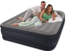 INTEX - nafukovací postel 64136 Deluxe Raised Pillow QUEEN s integrovanou elektrickou pumpou