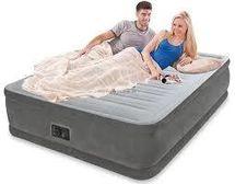 INTEX - nafukovací postel 64414 Comfort Queen s integrovanou elektrickou pumpou