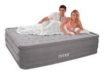 INTEX - nafukovací postel 64418 Comfort Queen s integrovanou elektrickou pumpou