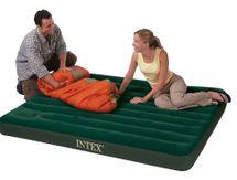 INTEX - nafukovací postel 66929 QUEEN Downy s integrovanou pumpou