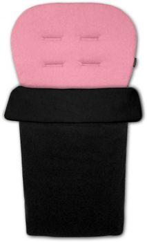 IVEMA BABY - Vložka do kočárku a nánožník 2 v 1 - růžová