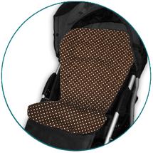 IVEMA BABY - Vložka do kočárku Maxi Color - hnědá s puntíky / hnědá