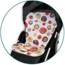 IVEMA BABY - Vložka do kočárku Maxi Color - hnědé bubliny / béžová