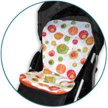 IVEMA BABY - Vložka do kočárku Maxi Color - oranžové bubliny / oranžová