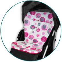 IVEMA BABY - Vložka do kočárku Maxi Color - růžové bubliny / malina