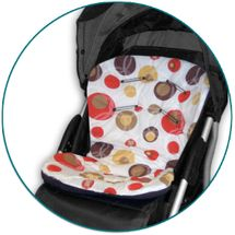 IVEMA BABY - Vložka do kočárku Uni Color - béžové bubliny / hnědá