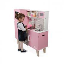 JANOD - J06571 Maxi dřevěná kuchyňka Macaron elektronická