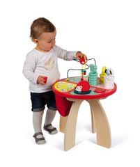 JANOD - J08018 Dřevěný hrací stolek s aktivitami Baby Forest