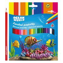 JUNIOR - Pastelky Ocean Wolrd trojhrané 24 ks