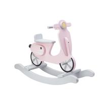 KIDS CONCEPT - Houpací skútr dřevěný Pink White