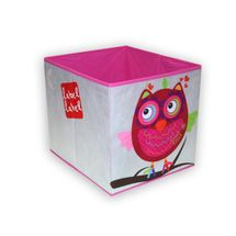 LABEL-LABEL - Box na hračky, růžová sovička