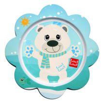 LABEL LABEL - Friend Talíř s květinovým tvarem - lední medvěd