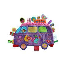 LABEL-LABEL - Školní autobus, fialový