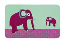 Lässig - Dětské prostírání Breakfast Boards Wildlife, elephant