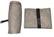 Lässig - Příslušenství k tašce - přebalovací podložka a termoobal na lahvičku, Choco melange