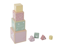 LITTLE DUTCH - Skládací věž pink