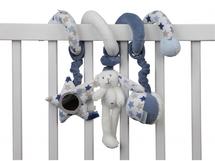 LITTLE DUTCH - Spirála zajíček bílá / modrá