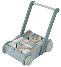 LITTLE DUTCH - Vozíček s kostkami blue