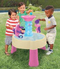 LITTLE TIKES - Vodní stůl Spirálová fontána růžový 173769