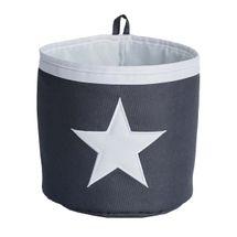 LOVE IT STORE IT - Malý úložný box, kulatý - šedý, bílá hvězda