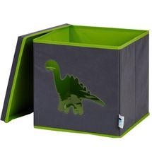 LOVE IT STORE IT - Úložný box na hračky s krytem a okénkem - dinosaurus