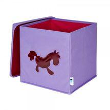 LOVE IT STORE IT - Úložný box na hračky s krytem a okénkem - koník