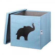LOVE IT STORE IT - Úložný box na hračky s krytem a okénkem - slon