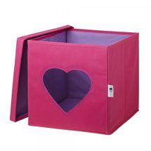 LOVE IT STORE IT - Úložný box na hračky s krytem a okénkem - srdce