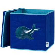 LOVE IT STORE IT - Úložný box na hračky s krytem a okénkem - velryba