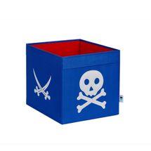 LOVE IT STORE IT - Velký úložný box Piráti - modrý s bílým pirátem