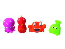 LUDI - Hračky do vody mořské potvůrky 4ks