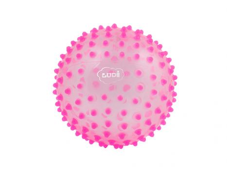 LUDI - Senzorická míček růžová