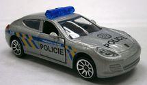 MAJORETTE - Policejní Auto Kovové, Česká Verze