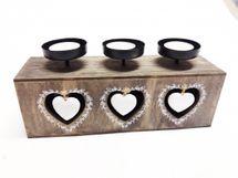 MAKRO - Svícen na 3 čajové svíčky