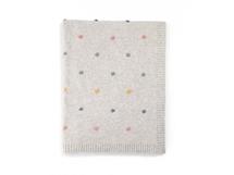 Pletená deka tečkovaná