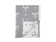 MAMAS & PAPAS - Pletená deka Lišky šedá