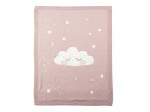 MAMAS & PAPASPletená deka mráček růžová