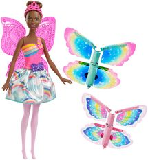 MATTEL - Barbie Létající Víla S Křídly Černoška