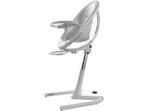 Židle Moon 2G chrom / průhledná