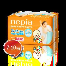 """NEPIA - Dětské kalhotkové pleny """"M"""" (7-10kg) 32 ks"""