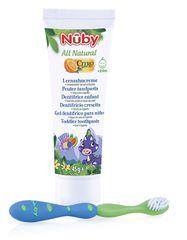 NUBY - Zubní pasta pro děti All Natural 45g + zubní kartáček 24m+