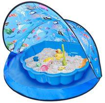 PARADISO - Paradiso Modrý stan s pískovištěm - bazénem mušle T02828