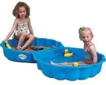 PARADISO - Pískoviště - bazén Mušle s krytem T00752 modrá