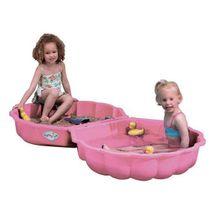 PARADISO - Pískoviště - bazén Mušle s krytem T00760 růžová