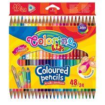 PATIO - Colorino pastelky dvoubarevné Trio 48 barev