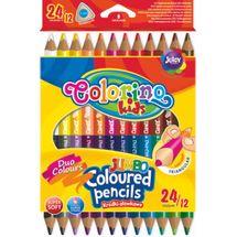 PATIO - Colorino pastelky Jumbo dvoubarevné TRIO 24 barev