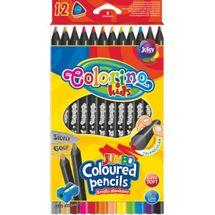 PATIO - Colorino pastelky Jumbo Trio Black 12 barev