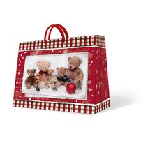 PAW - Vánoční taška Teddy Bear Family střední podélná 20 x 25 x 10 cm