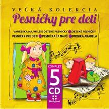 Pesničky pre deti - komplet 5 CD