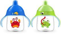PHILIPS AVENT - Hrneček pro první doušky Premium 260 ml žába/krab